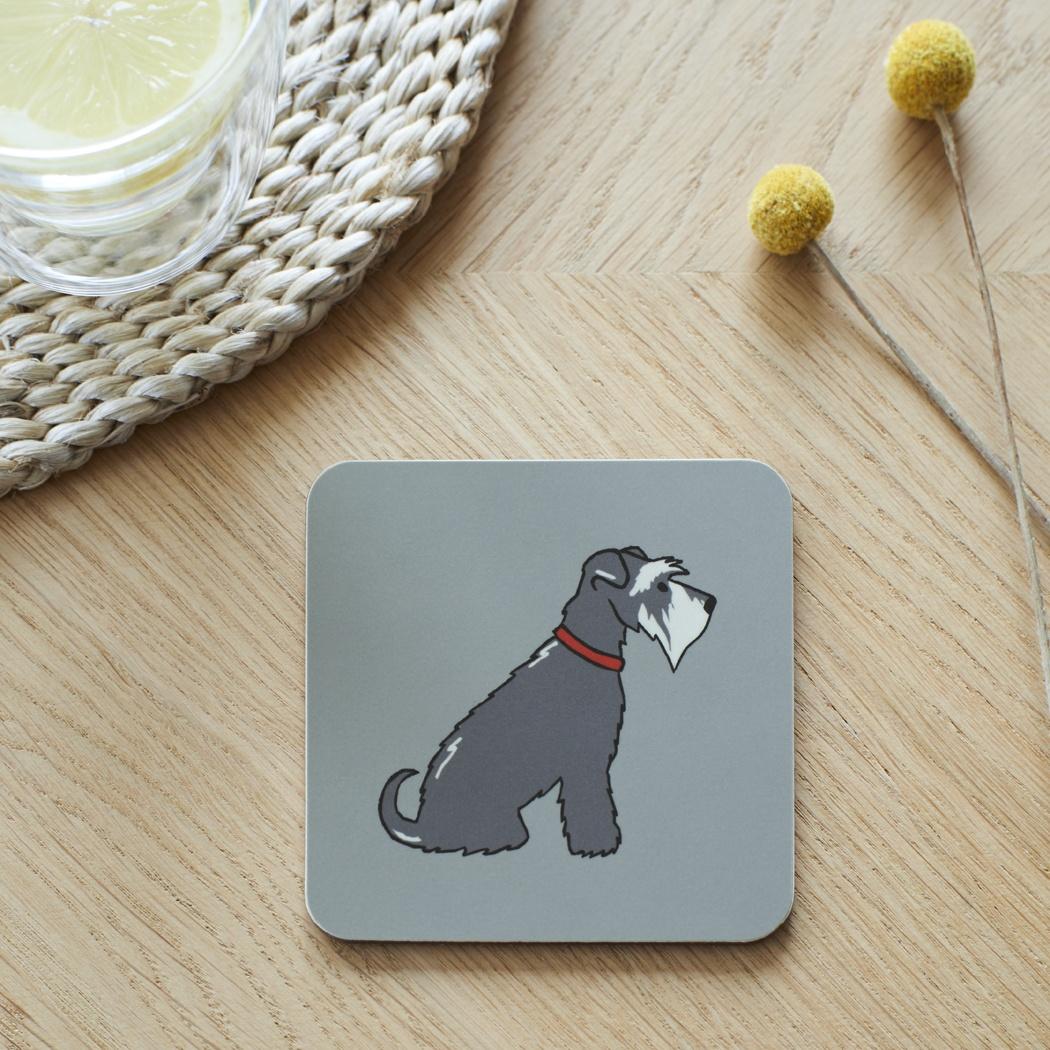 Grey Schnauzer Coaster , Coasters , Schnauzer