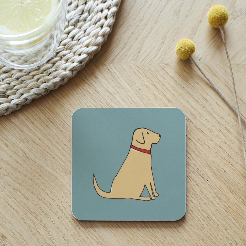 Yellow Labrador Coaster , Coasters , Yellow Labrador