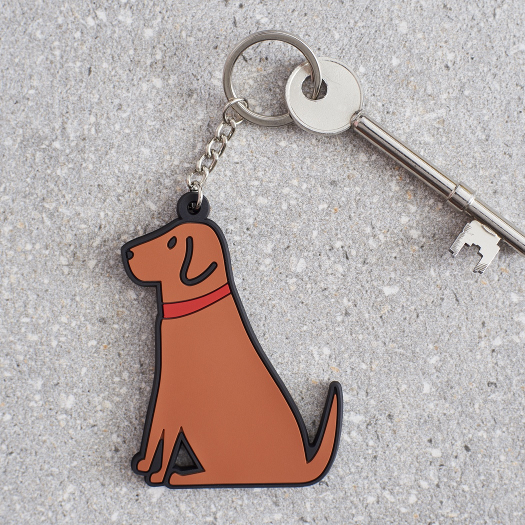 Fox Red Labrador Key Ring , Mischievous Mutts > Keyrings , Fox Red Labrador