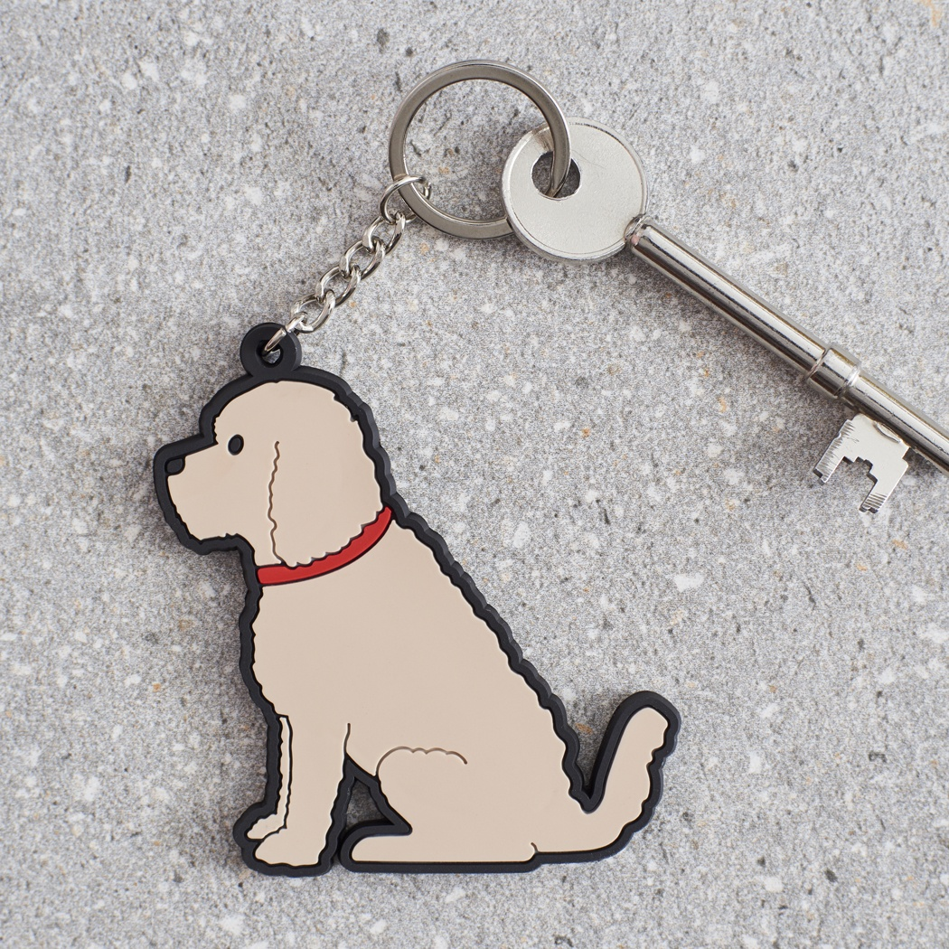 Cockapoo / Labradoodle (apricot) Key Ring , Mischievous Mutts > Keyrings , Cockapoo