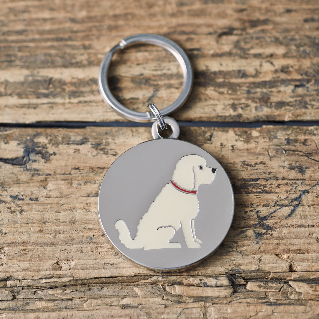 Apricot Cockapoo/Labradoodle Dog ID tag , Mischievous Mutts > Dog Tags , Cockapoo
