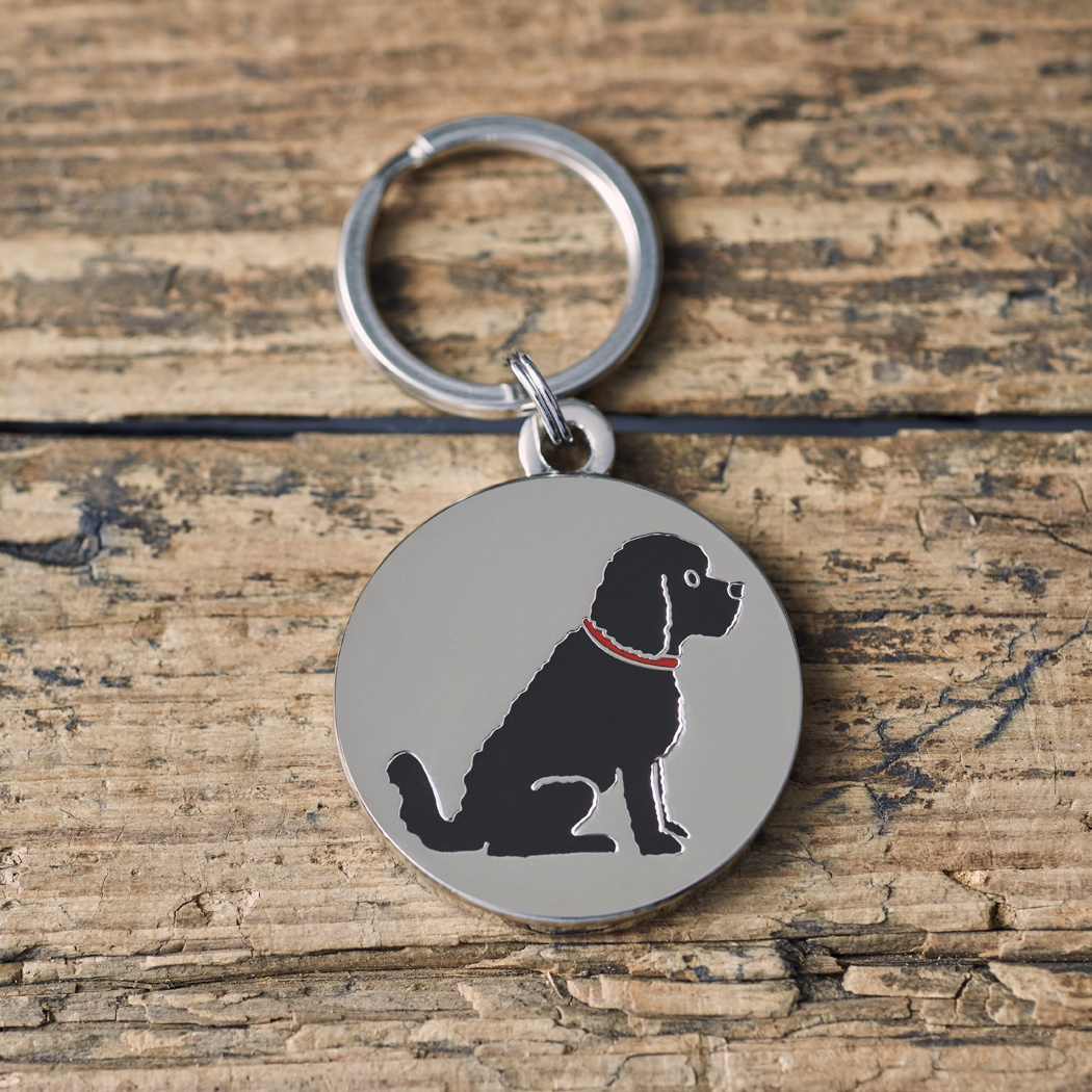 COCKAPOO / LABRADOODLE (BLACK) DOG ID NAME TAG , Mischievous Mutts > Dog Tags , Cockapoo