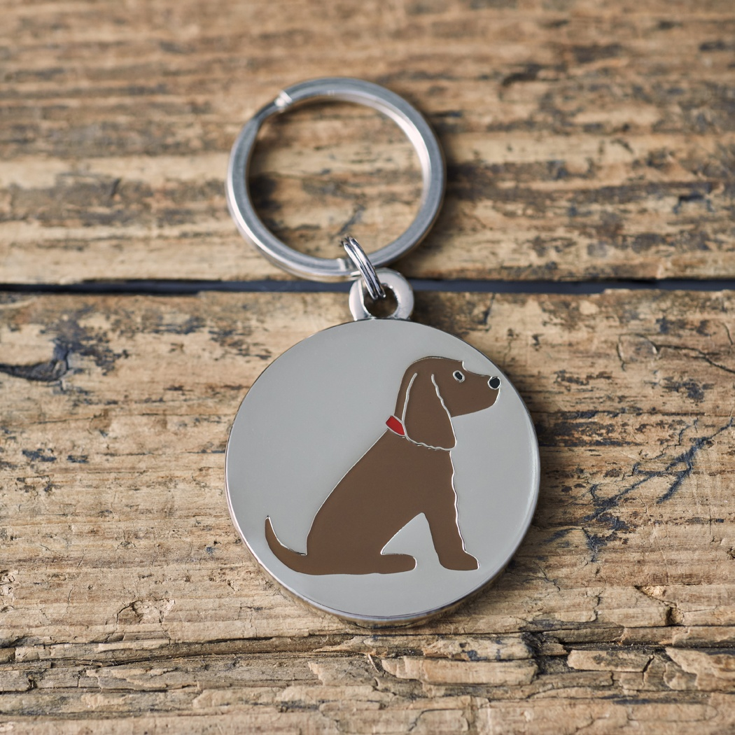 Brown Cocker Spaniel Dog ID tag , Mischievous Mutts > Dog Tags , Cocker Spaniel