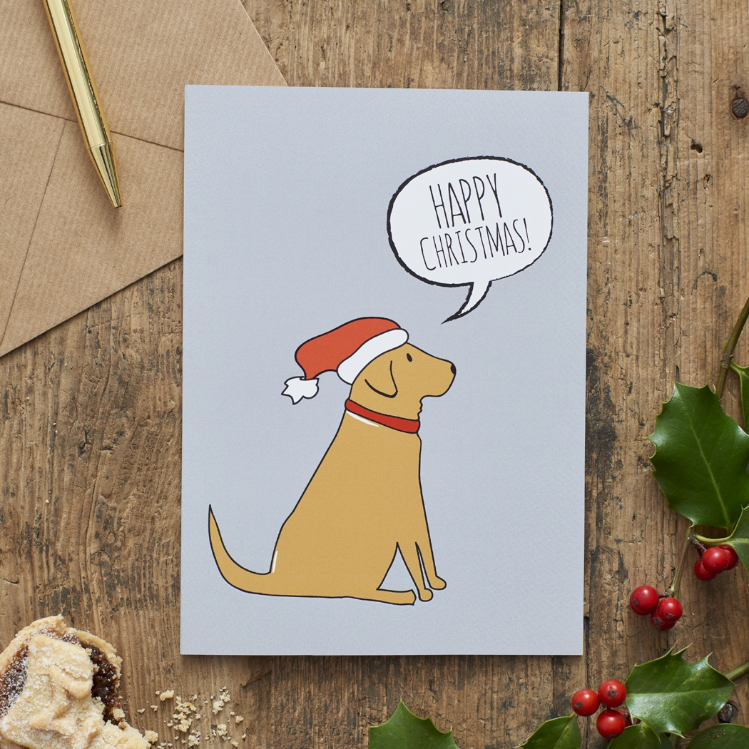 FOX RED LABRADOR CHRISTMAS CARD , Mischievous Mutts > Greeting Cards , Fox Red Labrador