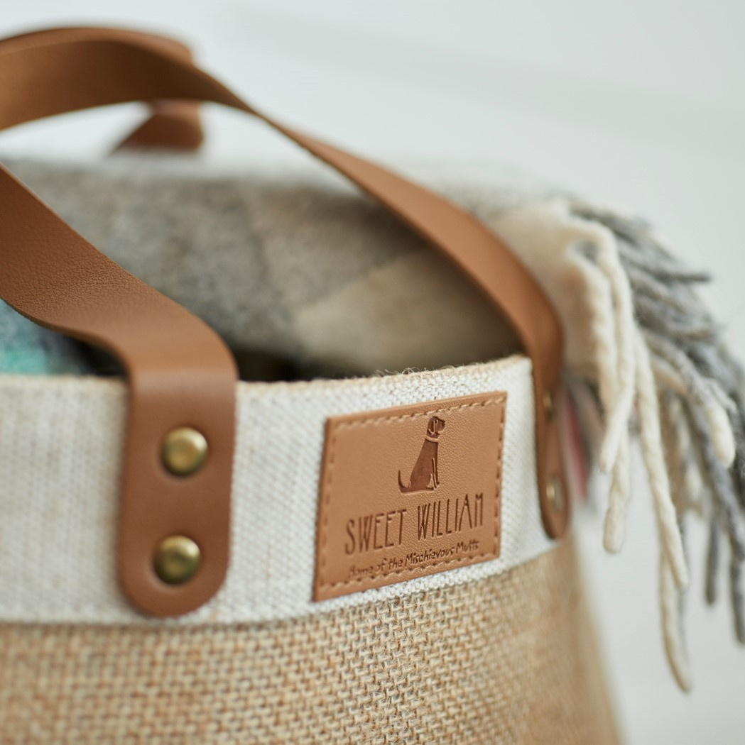 The Sweet William Jute Bag , Chocolate Labrador , Chocolate Labrador