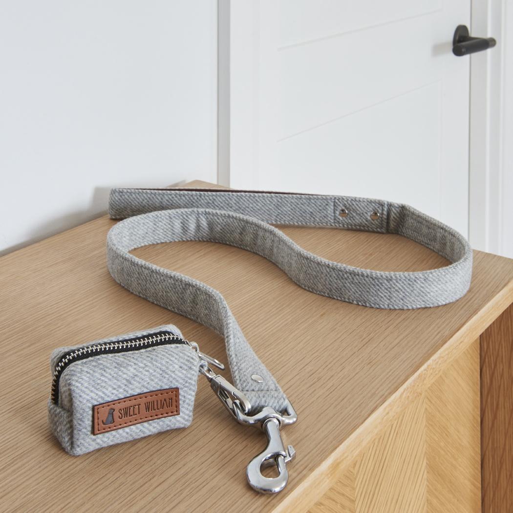 Tweed dog poo bag holder - grey , Dog Poo Bag Holders ,