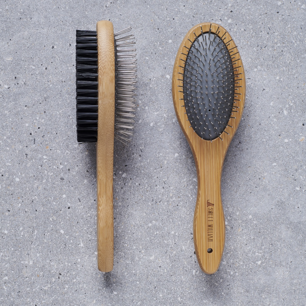 Bamboo double sided brush , Mischievous Mutts > Coopers Apothecary Collection ,