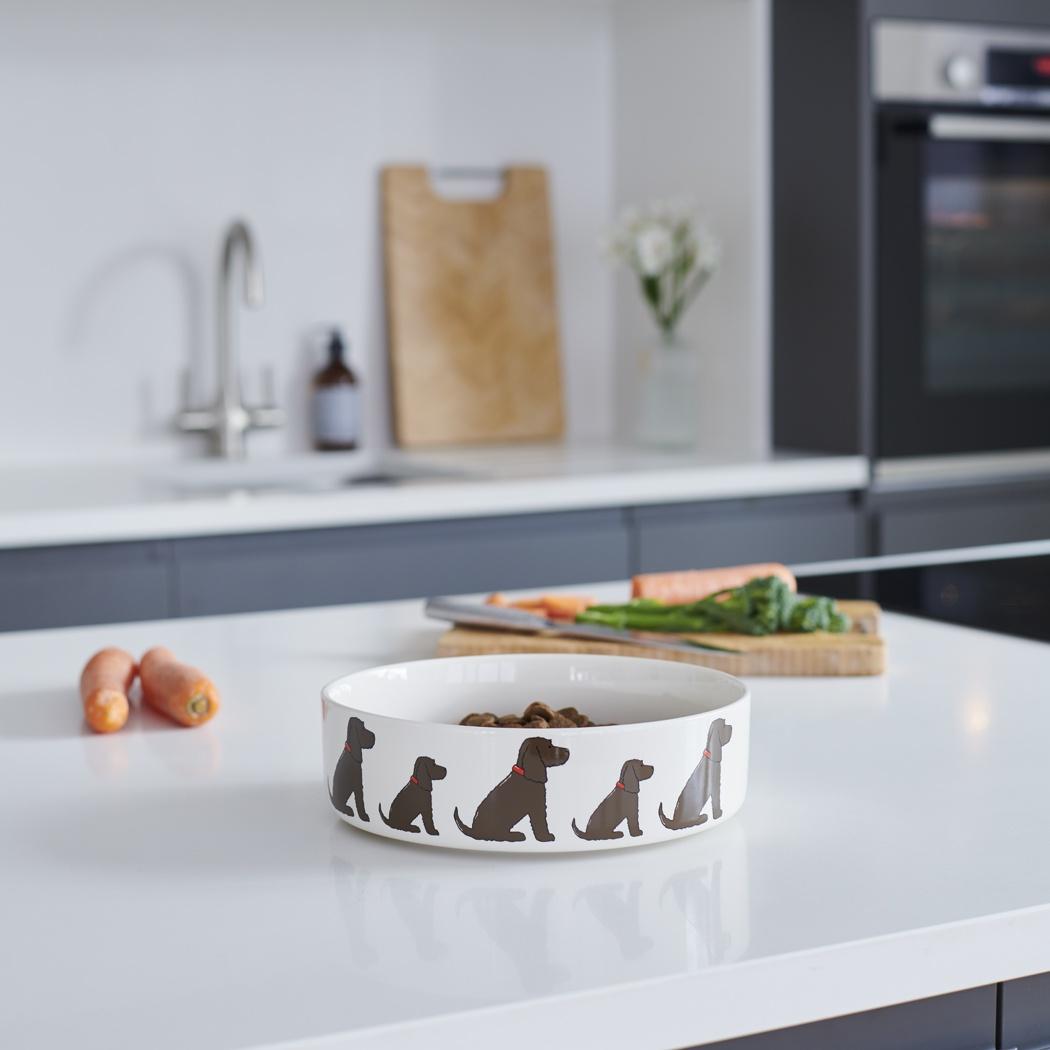 Cocker Spaniel (chocolate) Dog Bowl , Mischievous Mutts > Dog bowls , Cocker Spaniel