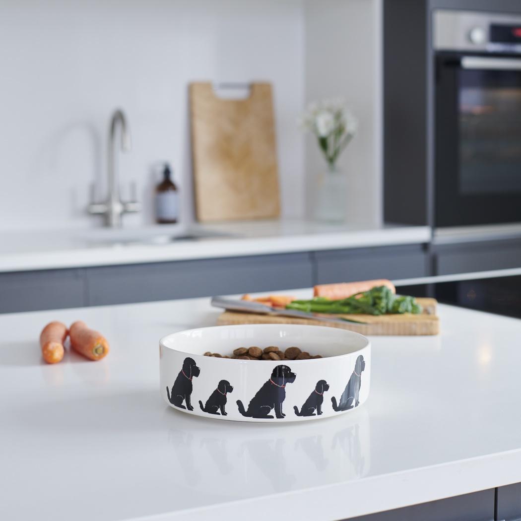 Cockapoo / Labradoodle (Black) Dog Bowl , Mischievous Mutts > Dog bowls , Cockapoo