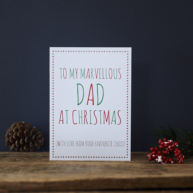 Marvellous Dad from your favourite child christmas card