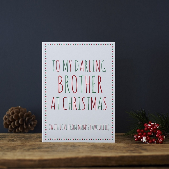Darling Brother from Mum's favourite Christmas Card