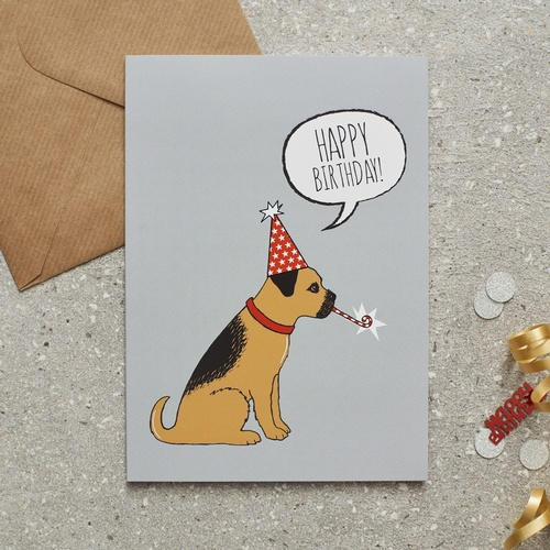 Border Terrier Christmas Card 275 Mischievous Mutts Greeting