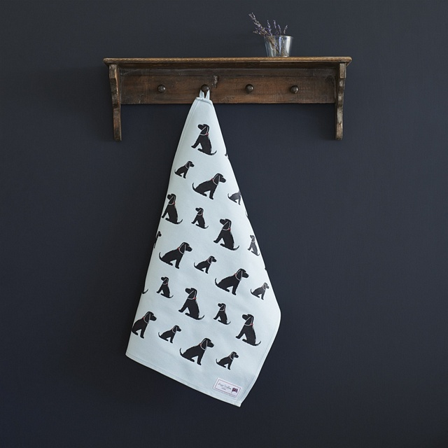 Black Cocker Spaniel Tea Towel