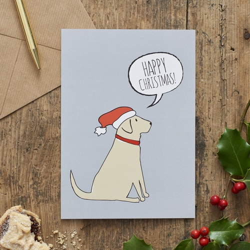 Yellow Labrador Christmas Card