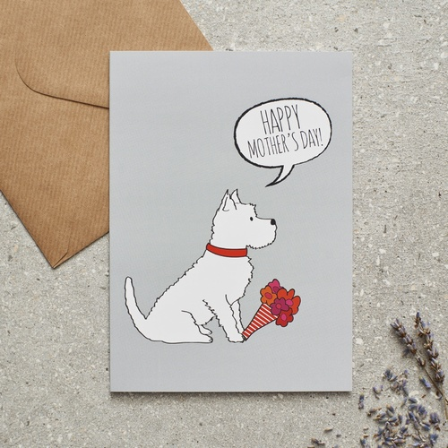 Westie Mother's Day Card