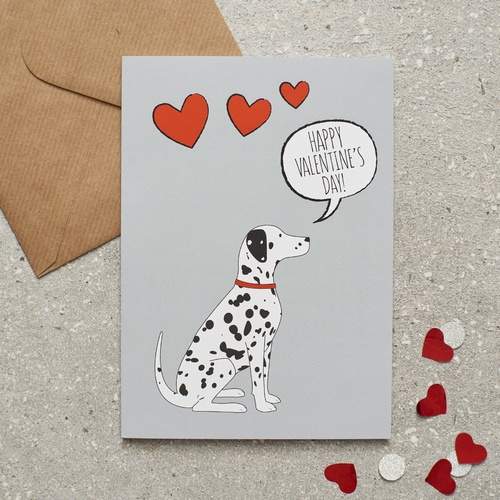 Dalmatian Valentine's Day Card