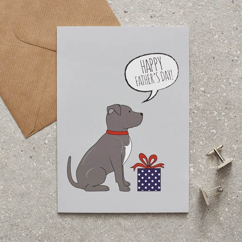 Staffie Father's Day Card