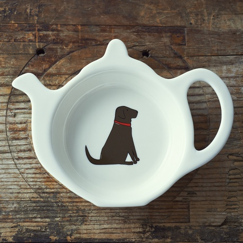 Chocolate Labrador Teabag Dish