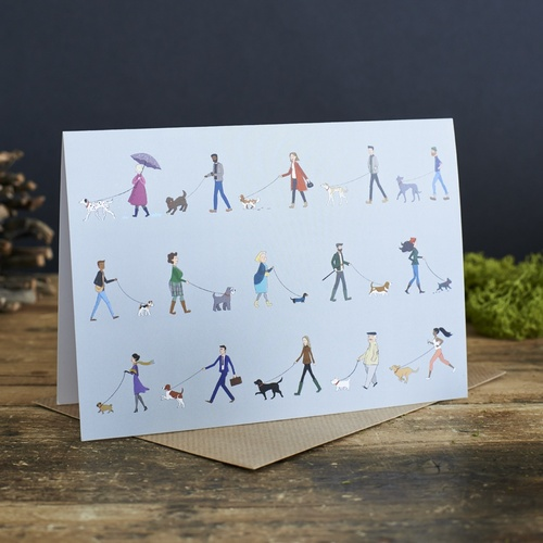 Dog Walkers greeting cards