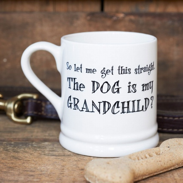 So let me get this straight the Dog is my grandchild mug