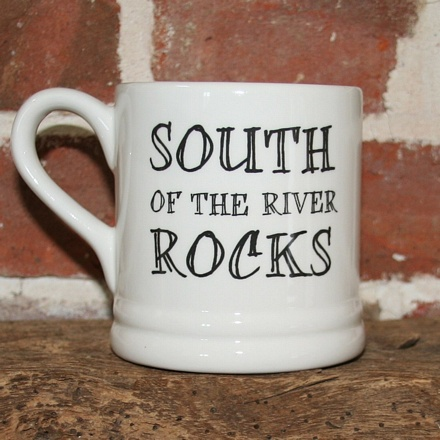 South of the river rocks mug