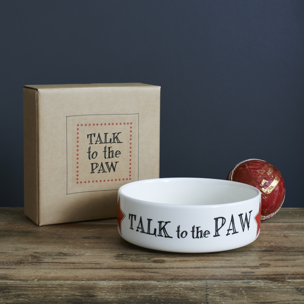Talk To The Paw Dog and Cat Bowl