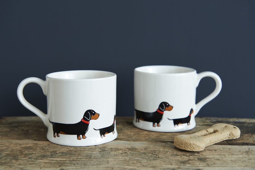 Two Dachshund Sausage Dog mugs