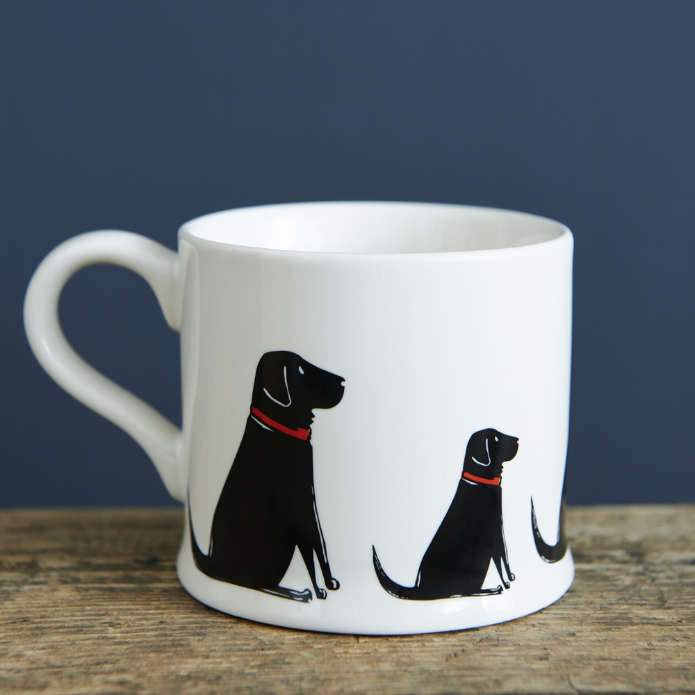 Black Labrador Lab mug