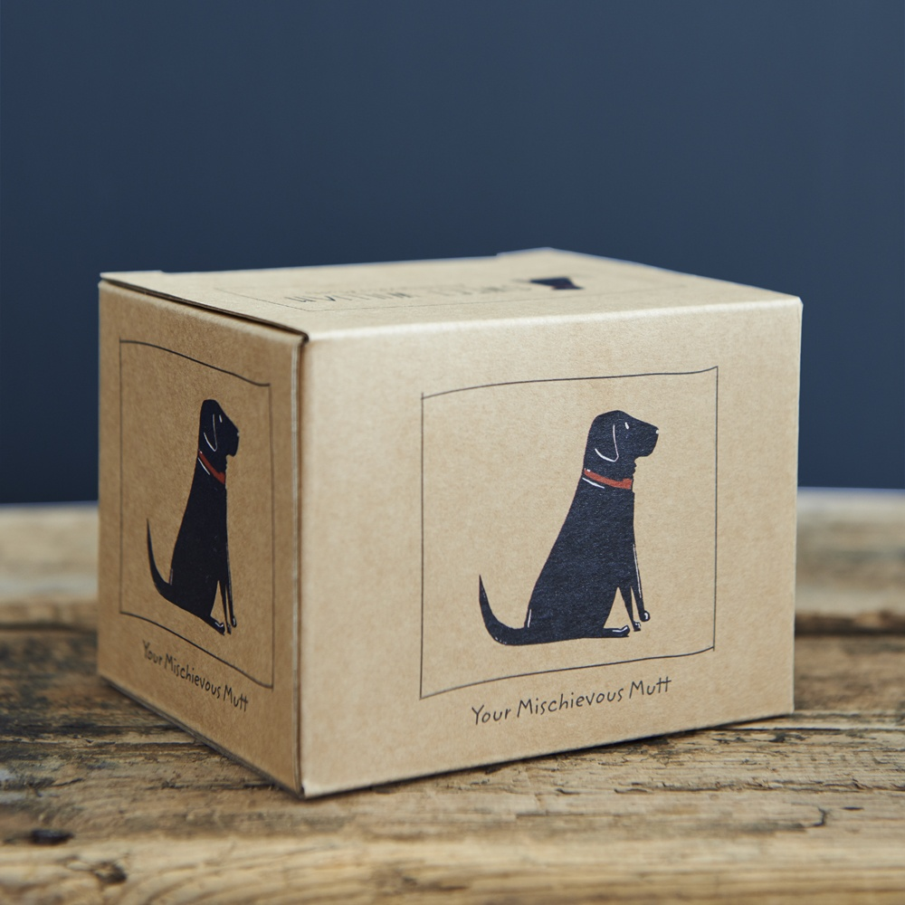 Black Labrador Lab mug gift box