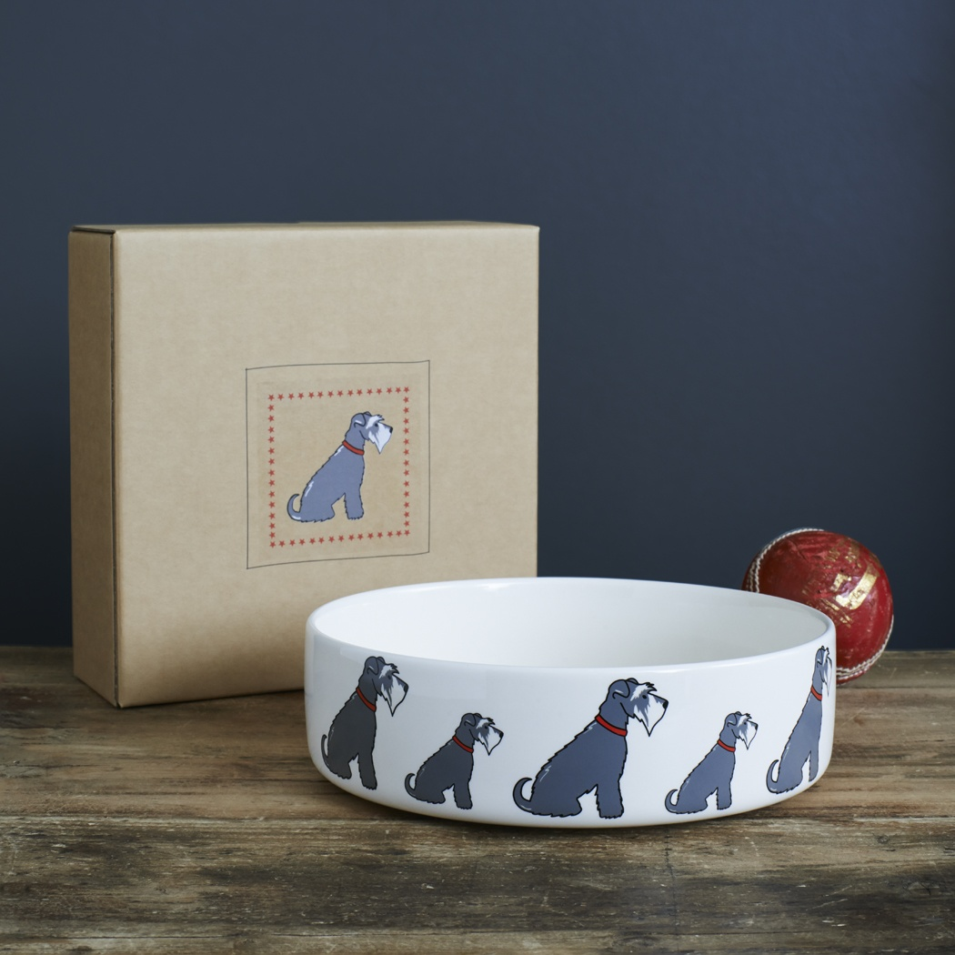 Grey Schnauzer Dog Bowl 163 20 95 Mischievous Mutts Dog