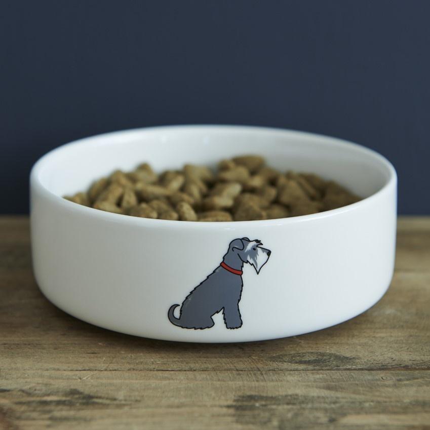 Grey Schnauzer Dog Bowl 163 20 95 Mischievous Mutts Dog