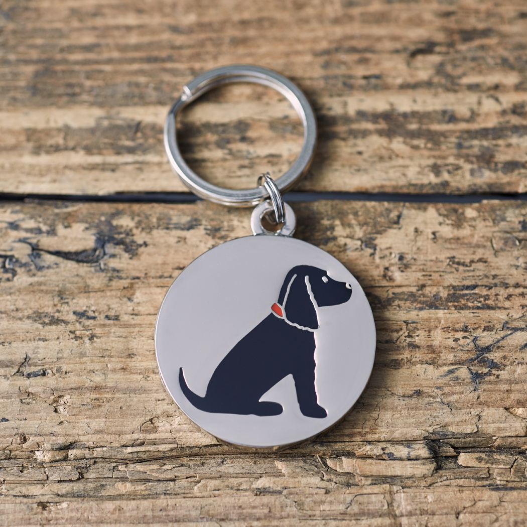 Black Cocker Spaniel Dog ID Name Tag