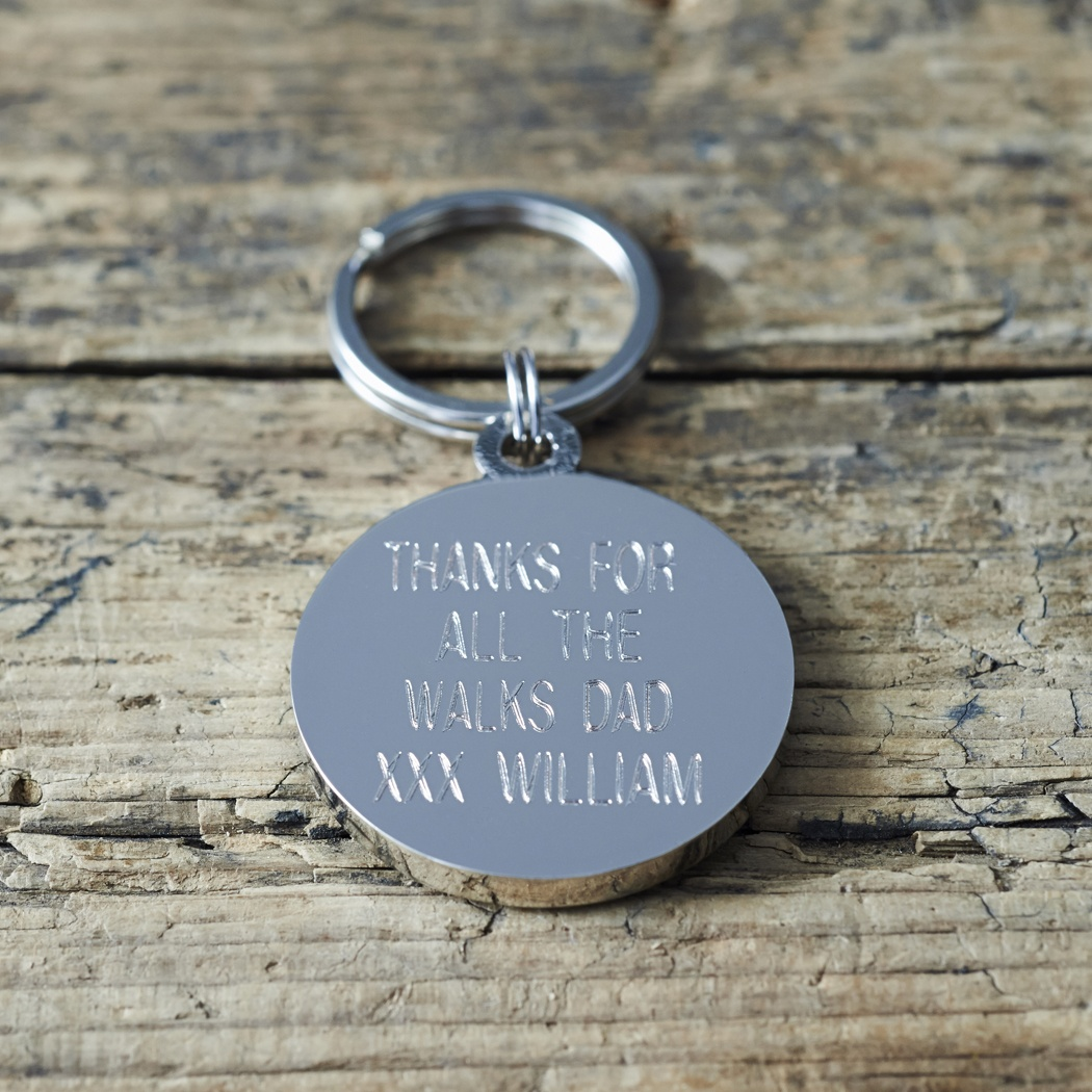 Engraved Example Of The Reverse Side Of Our Black Labrador Lab Dog Tag With Gift Box