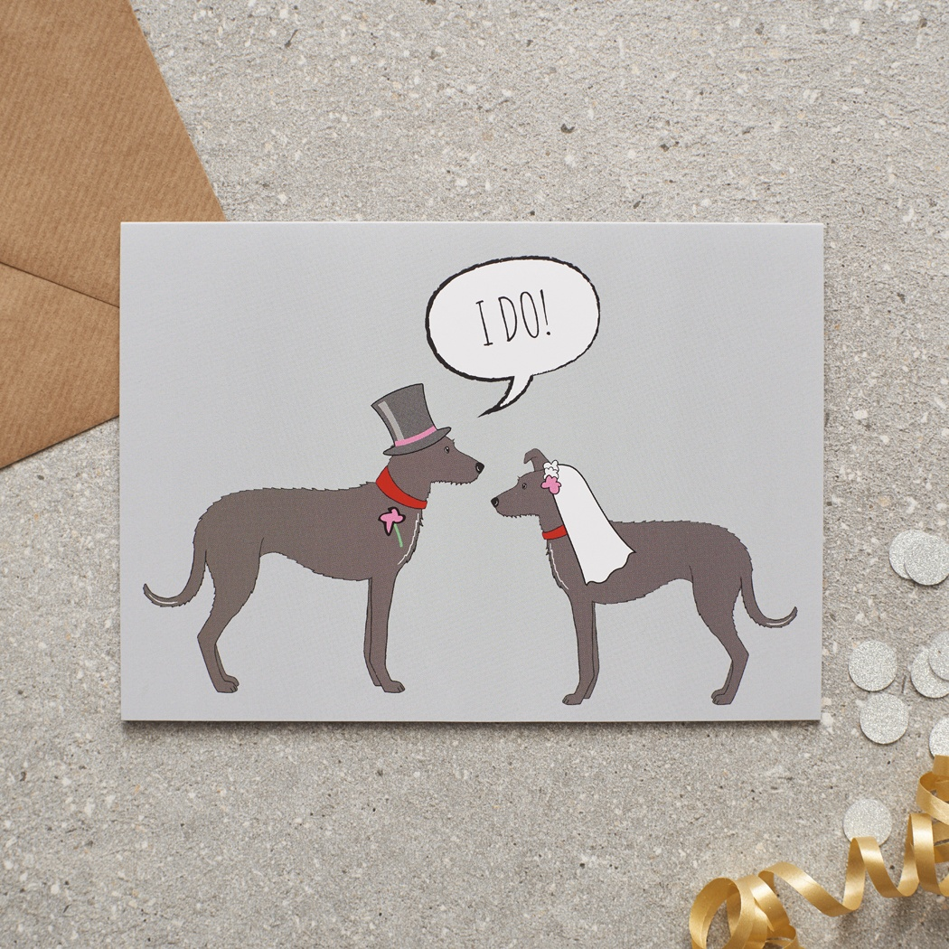 Lurcher Wedding Card