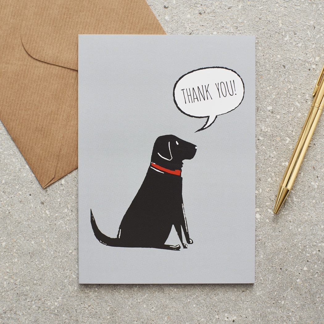Black Labrador Thank You Card