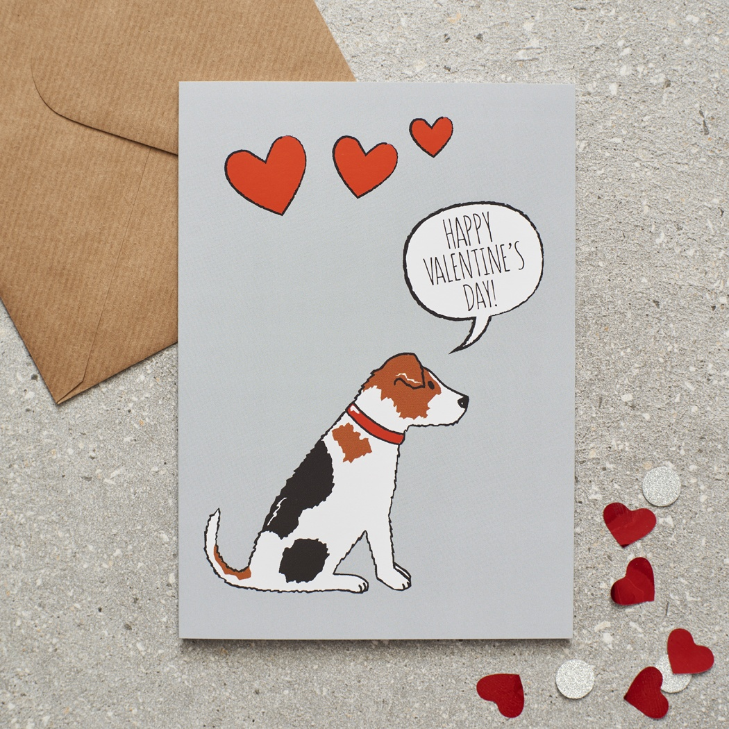 Jack Russell Valentine's Day Card
