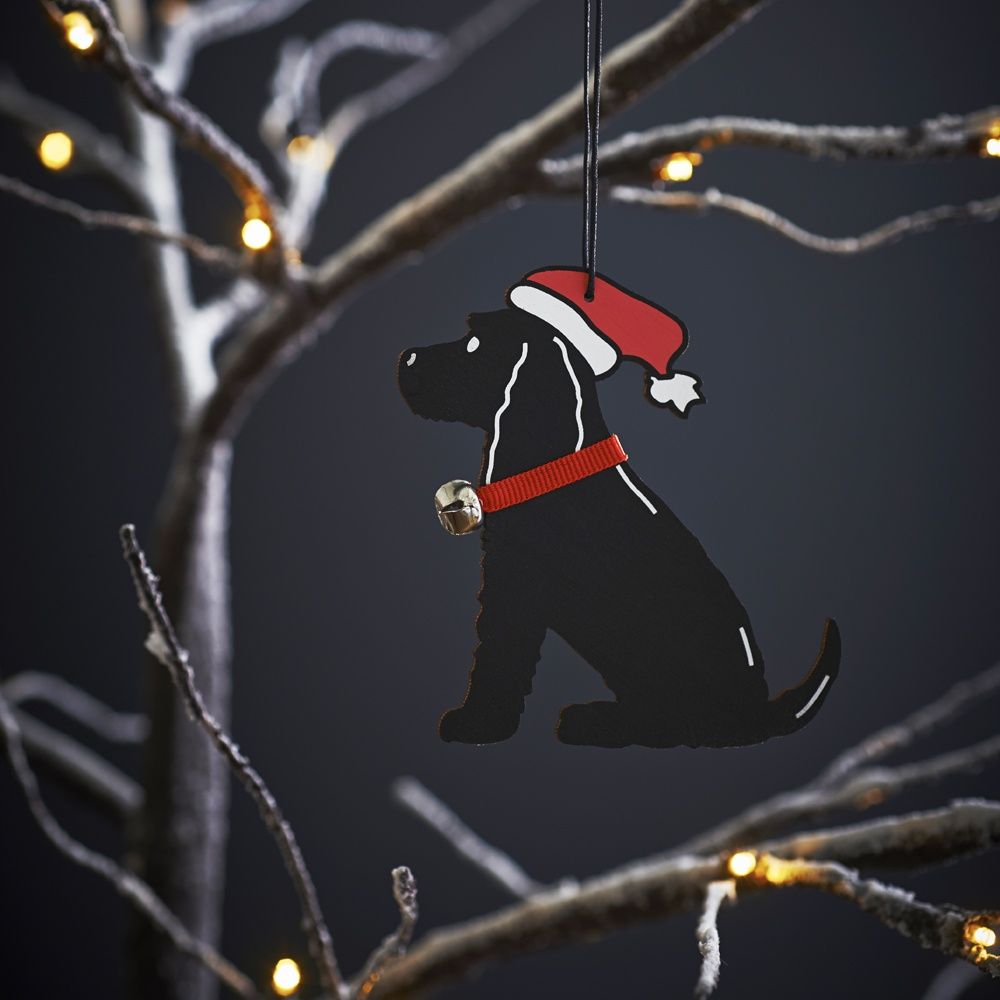 Black Cocker Spaniel Dog Christmas Tree Decoration