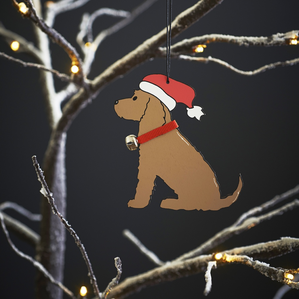 Golden Cocker Spaniel Christmas Tree Decoration / Ornament