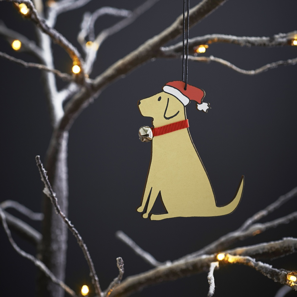 Yellow Labrador Lab Christmas Tree Decoration / Ornament