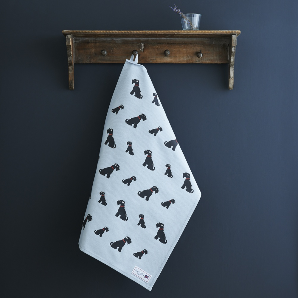 Black Schnauzer Tea Towel