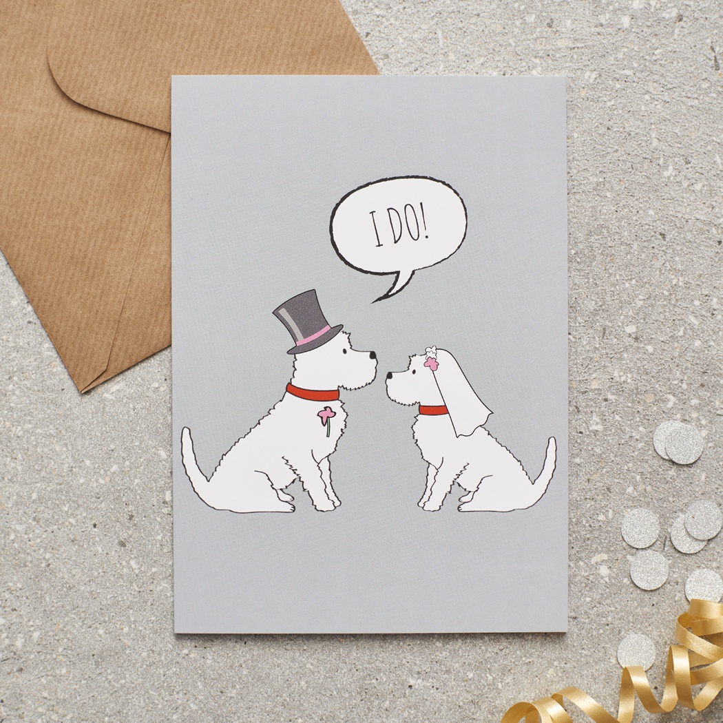Westie Wedding Card