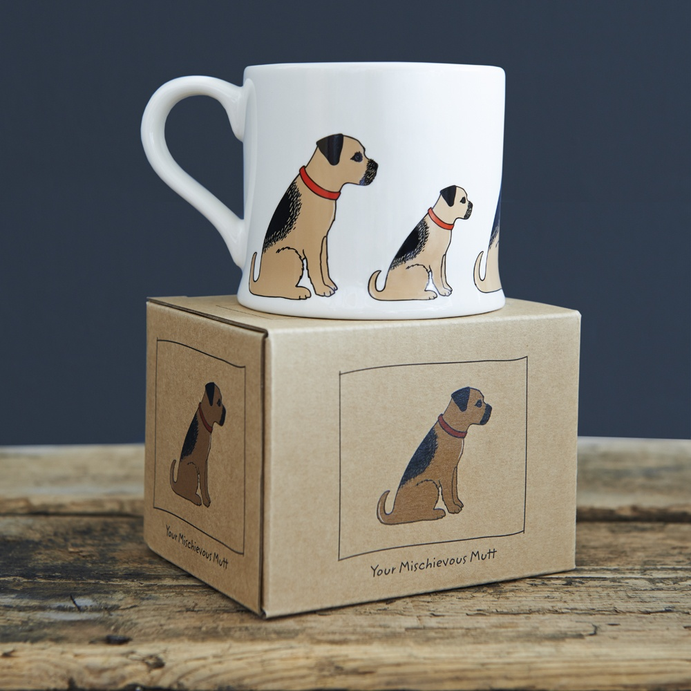 Border Terrier mug  and mug gift box