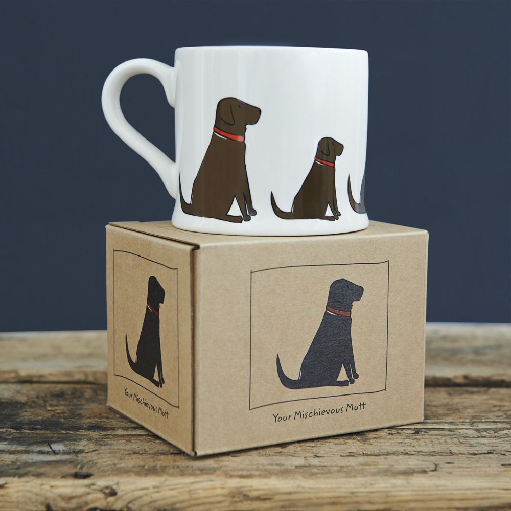 Chocolate Labrador Lab Mug with Mug Gift Box