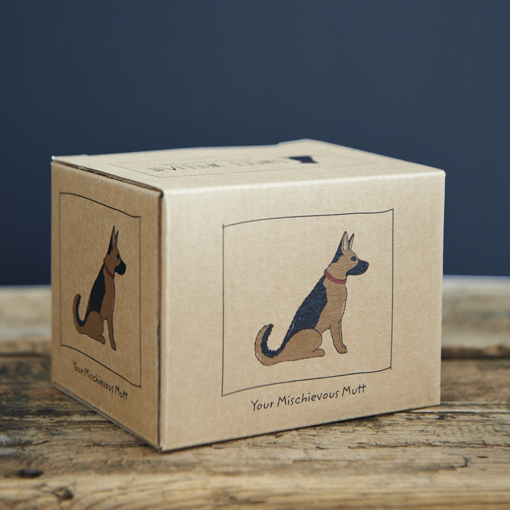 German Shepherd mug gift box