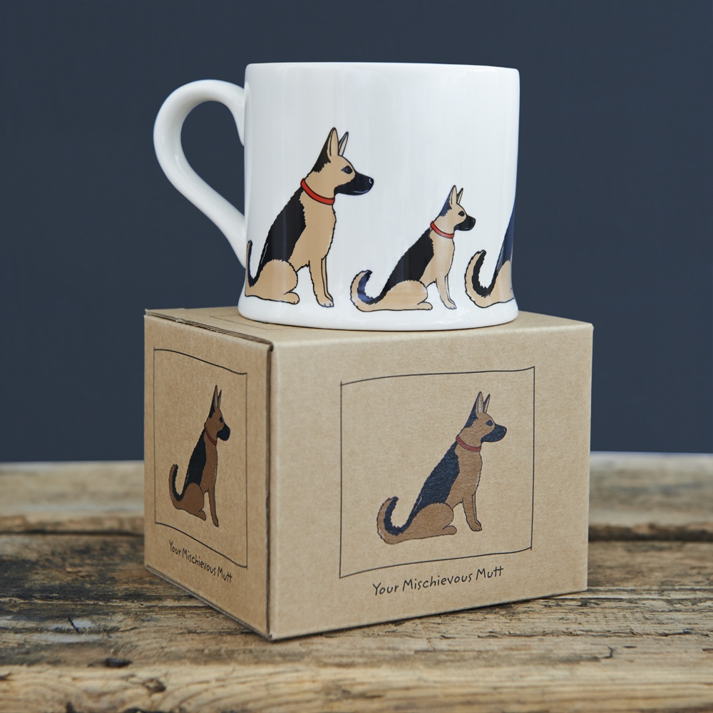 German Shepherd mug and mug gift box