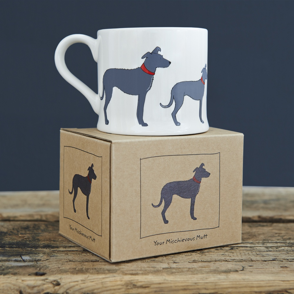 A Lurcher mug and gift box