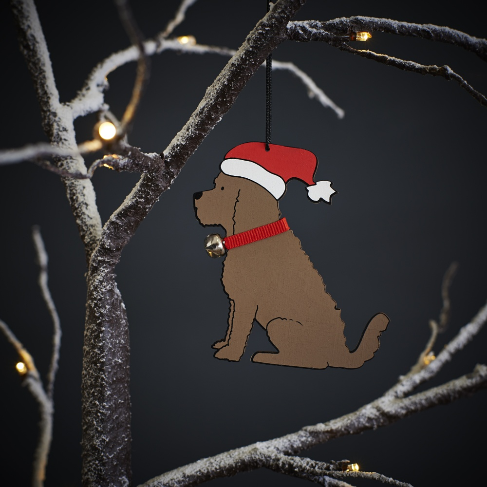 Cockapoo christmas tree decoration / ornament