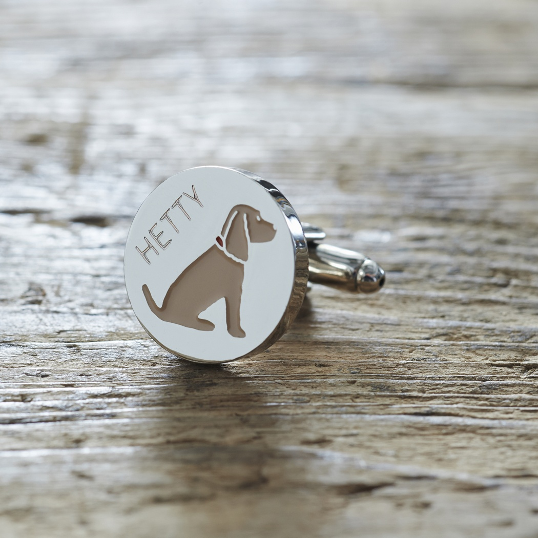 Golden Cocker Spaniel cufflinks