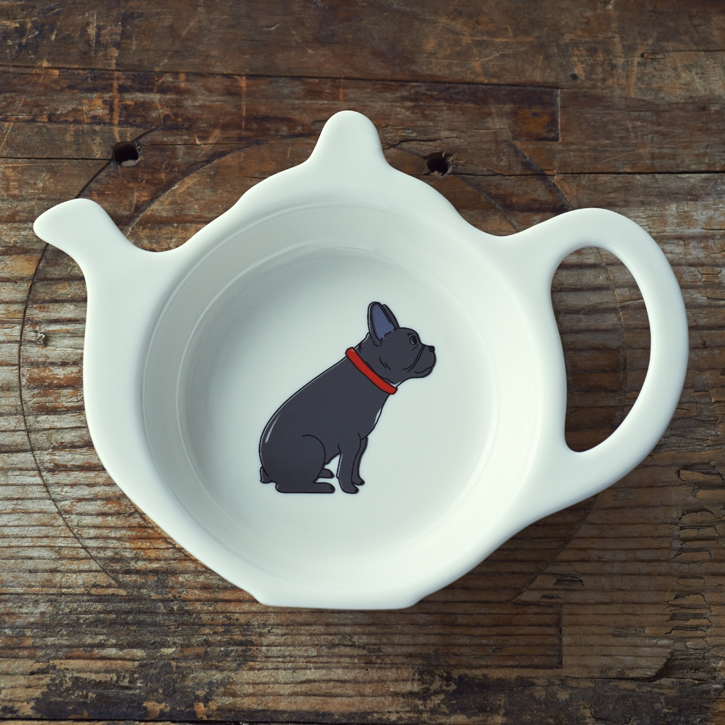 French Bulldog Teabag Dish