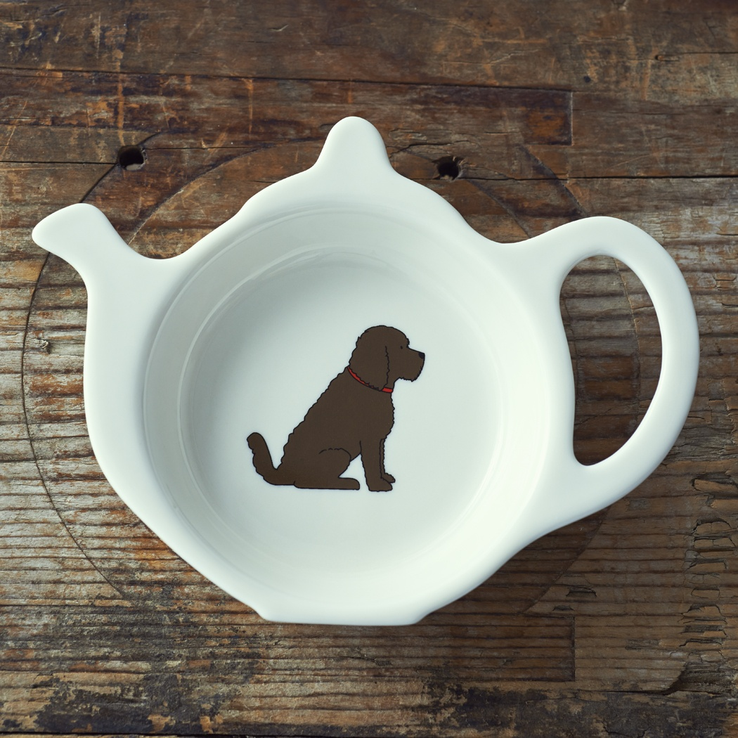 Cockapoo / Labradoodle (chocolate) Teabag Dish